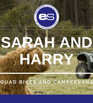 Sarah and Harry: Quad bikes and camper vans.